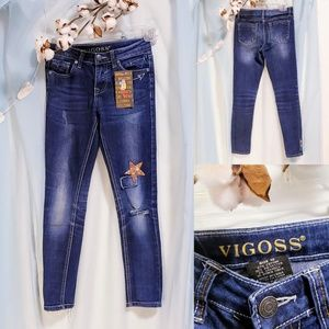 Vigoss Jagger skinny jeans, Girls 10 w/patches🦄💕
